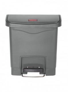 RUBBERMAID Slim Jim® Kunststoff-Tretabfallbehälter mit Pedal an der Breitseite 15 L - Vorschau 3