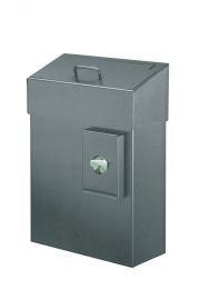 MediQo-line Hygieneabfallbehälter mit Hygienebeutelspender 10 Liter in Weiß oder Edelstahl zur Wandmontage - Vorschau 2