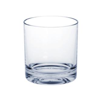10er Set Whiskey-Glas SAN aus Kunststoff mit extra dicken Boden kaum von Glas zu unterscheiden