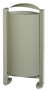 Rossignol Arkea Abfallkorb 60L aus korrosionsgeschütztem Stahl mit Standfuss
