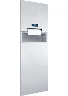 Wagner-EWAR Kombination WP5450 Papierrollenspender und Abfallbehälter 48l Netzbetrieb Edelstahl für Unterputzmontage