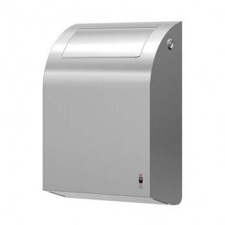 Dan Dryer Mini-Abfallbehälter/Hygienebox aus gebürstetem Edelstahl mit Klappdeckel