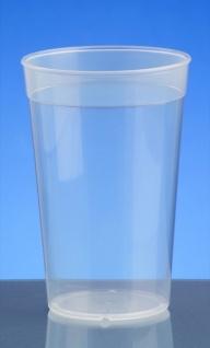 Kunststoff Mehrweg-Becher transparent 0, 2l - 0, 5l PP wiederverwendbar stapelbar - Vorschau 2