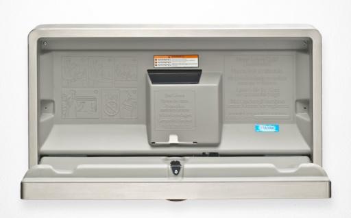 Edelstahl Koala Wickeltisch KB110-SSWM Horizontal Aufputz MICROBAN® Hygieneschutz - Vorschau 2