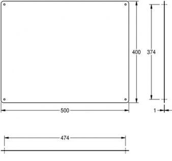 Franke Spiegel CHRH501 aus Chromnickelstahl zur Aufputzmontage - Vorschau 3