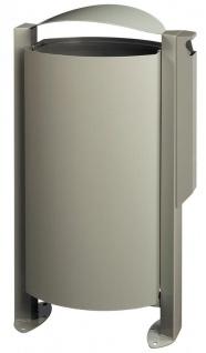 Rossignol Arkea Abfallkorb 100L mit Standfuss und mit Ascher 3L in 4 Farben