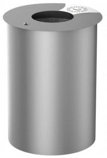 Rossignol Urbis Abfallbehälter 60 Liter aus Stahl zum Aufstellen oder Befestigen