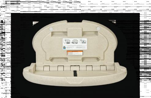 Koala Wickeltisch Oval KB-208 MICROBAN® Hygieneschutz - Mit pneumatische Zylinder - Vorschau 4