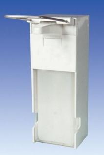 Metzger weißer Dosierspender 1L aus Kunststoff mit langem Edelstahl-Bedienhebel