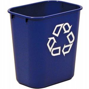 RUBBERMAID Rechteckiger-Papierkorb 26, 6 l in Grau, Schwarz oder Blau aus Kunststoff - Vorschau 3