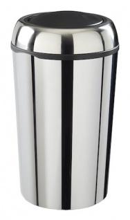 Rossignol Swingy runder Abfallbehälter aus Edelstahl mit Schwingdeckel 50 Liter