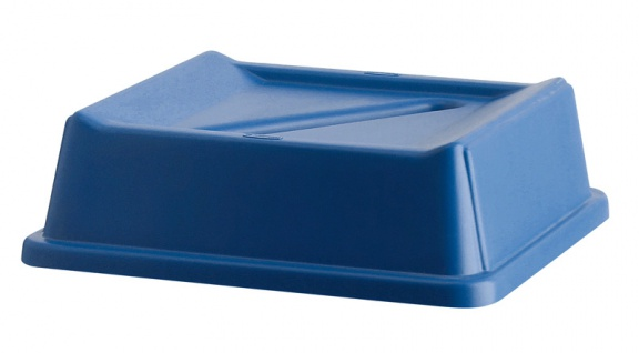 Deckel Papierrecycling, Rubbermaid Blau