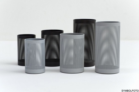 G-Line Pro FORATO Papierkörbe, silber lackierter Stahl 1.4016, 2 Größen + 4 Farben - Vorschau