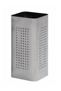 Graepel G-Line Pro Schirmständer QBIN aus geschliffenem Edelstahl 1.4016