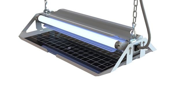 Genus Delta® 2 x 15 Watt hängende Insekten Lichtfalle mithilfe von Klebefolien
