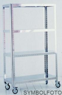 G-Line Pro Design Regal Quadra M - Maxi aus poliertem Edelstahl 1.4016 mit Räder