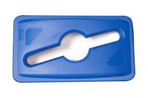 RUBBERMAID Deckel für gemischte Recyclingabfälle (passend für Slim Jim FG3540, FG3541)