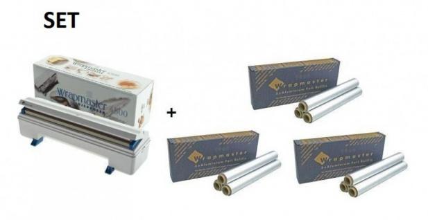 SET Effizienter Wrapmaster-Spender WM4500 und 3 Pack. Aluminiumfolie 4500