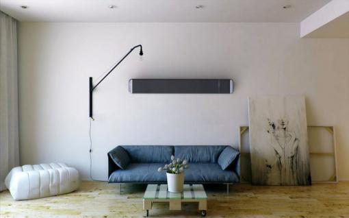 MO-EL Hot Top moderner Dunkelstrahler 9824D mit 2400W mit Dimmer + Fernbedienung - Vorschau 3