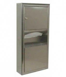 Bobrick B-3699 2in1 Papierhandtuchspender und Abfallbehälter für Aufputzmontage