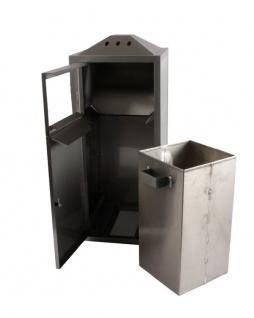 Hochwertiger Kombinierter Aussenaschenbecher/Mülleimer - Vorschau 2
