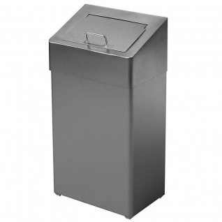 Dan Dryer Classic Design Hygienebox 10L aus gebürstetem Edelstahl mit Einwurfklappe