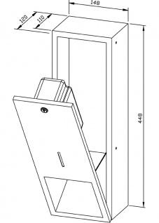 Wagner-EWAR Seifenspender 950ml WP208 Edelstahl für Unterputzmontage - Vorschau 2