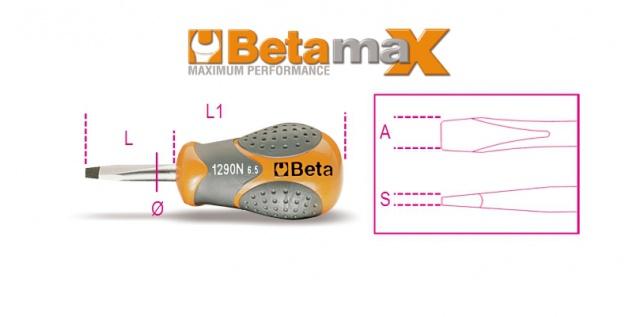 Beta Schraubendreher für Schlitzschrauben, extrakurze Ausführung 1290N