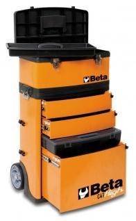 Beta Trolley mit 2 Stapelbaren Modulen, gelb - Vorschau 3