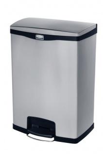 RUBBERMAID Slim Jim® Metall-Tretabfallbehälter mit Pedal an der Breitseite 90 L