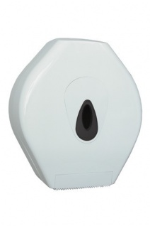 PlastiQline Midi Groß Rrollenhalter aus weißem Kunststoff zur Wandmontage