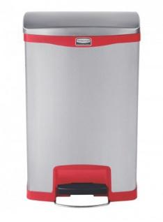 RUBBERMAID Slim Jim® Metall-Tretabfallbehälter mit Pedal an der Breitseite 50 L