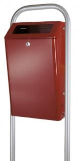 Abfalbehälter für draußen 50 Liter mit feuerfestem Inneneimer