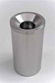 G-Line Pro GRIZÙ selbstlöschender Papierkorb aus geschliffenem Edelstahl 1.4016