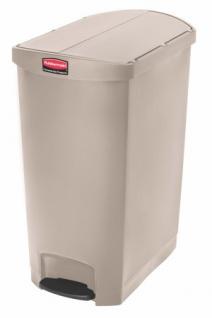 RUBBERMAID Slim Jim® Kunststoff-Tretabfallbehälter mit Pedal an der Schmalseite 90 L