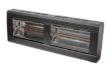 Heatlight HLQB Quarz schwarzer Infrarotstrahler 4000 Watt mit 2 versch. Lampenfarben