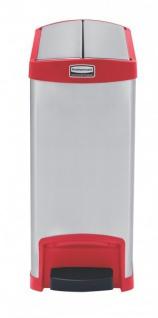 RUBBERMAID Slim Jim® Metall-Tretabfallbehälter mit Pedal an der Schmalseite 30 L - Vorschau 1