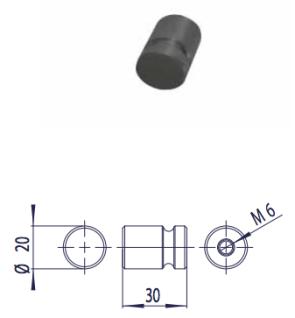 Proox® ONE dark passion DP-565 Aluminium Kleiderhaken rund schwarz anodisiert - Vorschau 2
