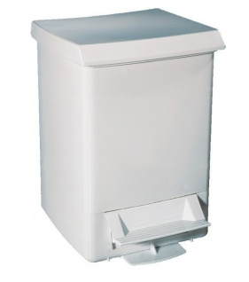 Mülleimer mit Tretpedal 6 Liter MP514 in Weiß aus Kunststoff