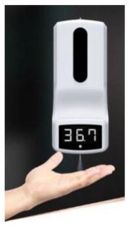 Fieberthermometer & Desinfektionsspender 2 in 1 - Fieber Messen & Handdesinfektion in Einem
