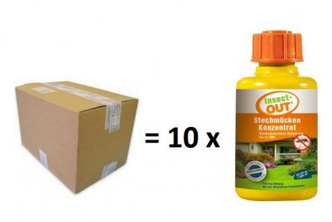 Set 1 Karton mit 10 Stück Insect-OUT® Stechmücken Konzentraten mit je 100 ml