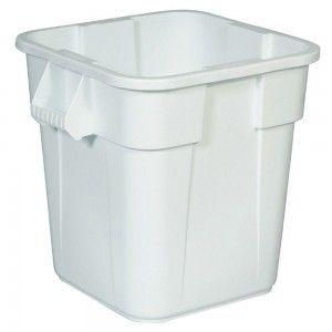 RUBBERMAID Quadratischer BRUTE® Container 151, 4l aus Polyethylen in Weiß oder Grau - Vorschau 2