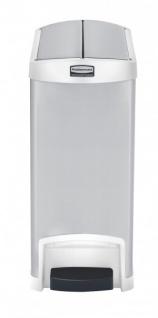 RUBBERMAID Slim Jim® Metall-Tretabfallbehälter mit Pedal an der Schmalseite 30 L - Vorschau 3