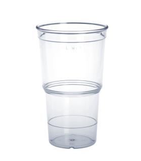 20er Set ECO Cup wiederverwendbar glasklar 0, 4l aus Kunststoff stapelbar