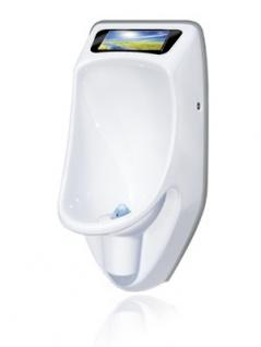 URIMAT compactvideo Wasserloses Urinal in weiß mit Videodisplay