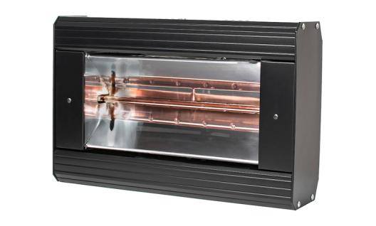 Heatlight HLQB Quarz schwarzer Infrarotstrahler 1500 Watt mit 2 versch. Lampenfarben