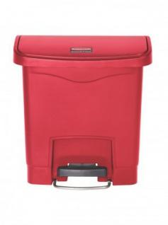 RUBBERMAID Slim Jim® Kunststoff-Tretabfallbehälter mit Pedal an der Breitseite 15 L - Vorschau 4