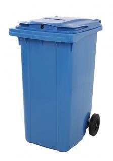 Kunststoff Container mit Papierschlitz und Schloss 240 Liter