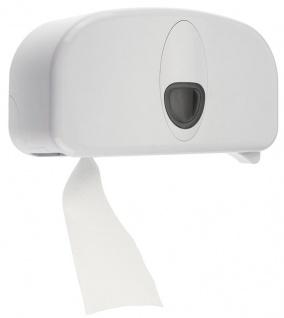 PlastiQline 2020 WC-Rollenspender aus Kunststoff für 2 Standard-Rollen mit Schloss