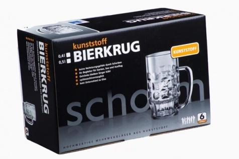 Geschenk-Set: 6 Stk. Bierkrug 0, 4l aus Kunststoff + Karton